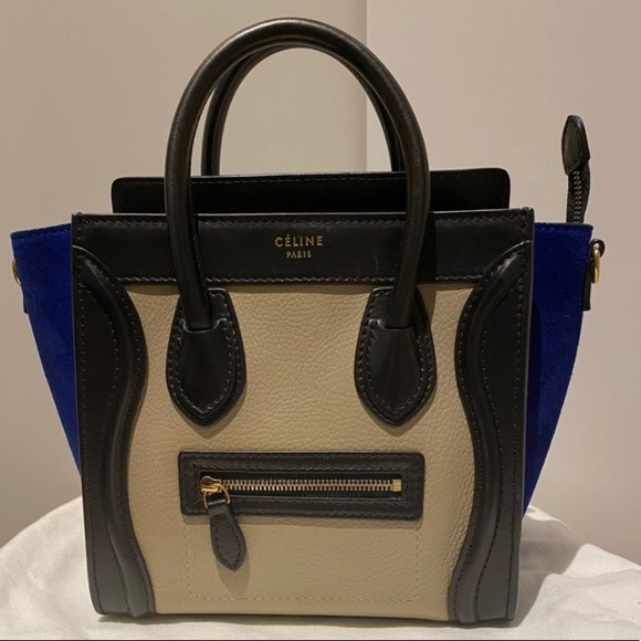 Celine tricolor nano bag 100% authentic